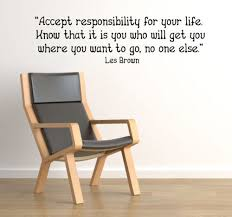 Accept Responsibility Wall Decals Trading Phrases