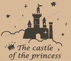 Large Size Castle Wall Decals Art Mural For Baby Girl Nursery Or Girls Room Princess Decoration Wall Decals Princess Decorationmural For Wall Aliexpress
