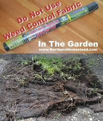 weed control fabric in the garden