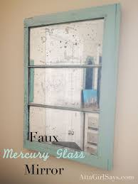 how to make a faux mercury glass mirror
