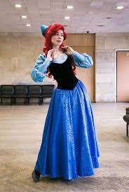 ariel blue dress cosplay disney