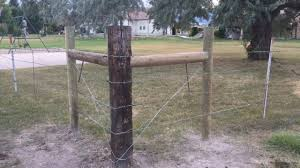 Installing New H Brace Corner Barb Wire Fence For Livestock Pasture Fencing Wire Fence Farm Fence