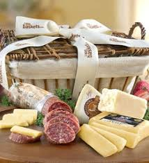 gourmet meat cheese gift baskets