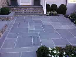 flagstone patio laid on concrete
