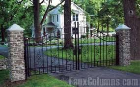 Pin By Fauxcolumns On Design Ideas Fence Posts Wrought Iron Gate Aluminum Fence Gate Modern Fence