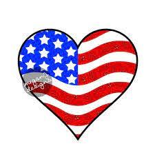 American Flag Heart Car Decal Sticker Cute Patriotic Usa Etsy