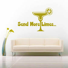 Margarita Send More Limes Vinyl Car Window Decal Sticker