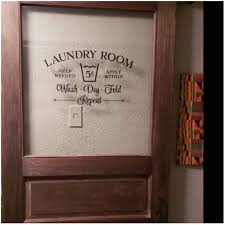 Amazon Com Laundry Room Decor Sign Wall Decal Laundry Room Door Removeable Vinyl Wall Sticker For Wall Home Room Glass Door Decor 69x42cm Sports Outdoors