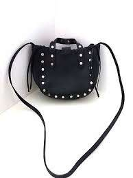 leather studded tote handbag cross