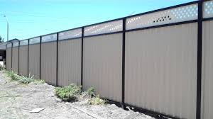 Colorbond Fence With Lattice Youtube