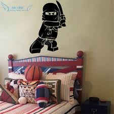 Ree Shipping New Ninjago Lego Vinyl Wall Decal Sticker For Kids Boy Room Decor Children S Play Room Wall Decor Wall Stickers Buy At The Price Of 6 39 In Aliexpress Com Imall Com