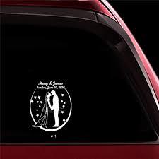 Amazon Com Ytedad Car Sticker Car Decal Wedding Car Decor Decal Groom Bride Silhouette Sticker Car Body Window Door Rear Windshield Home Kitchen