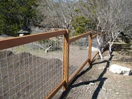 Cedar And Welded Wire Fence Backyard Fences Building A Fence Ranch Fencing