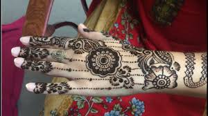 mehndi designs back hand bridal
