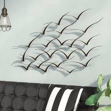 Trent Austin Design Handcrafted Flock Of Birds Metal Art Wall Decor Reviews Wayfair
