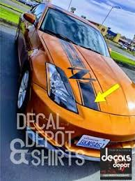 Vinyl Decal Stripes For Hood Fits Nissan 350z 370z Touring Coupe Convertible Ebay