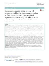 parative oesophageal cancer risk