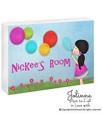 Great Deal On Kids Room Door Sign Personalized Name Girls Bedroom Decor Plaque Baby Shower Art Gift Custom Hair And Skin Color