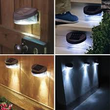 Solar Powered Led Fence Stair Step Lights Cool White