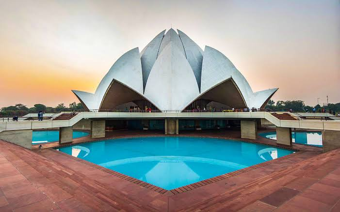 Image result for lotus temple delhi""