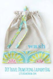 diy drawstring travel laundry bag