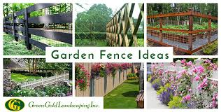 Simple Garden Fence Ideas Archives Green Gold Landscaping Inc