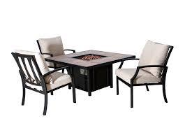 aluminum patio fire pit table