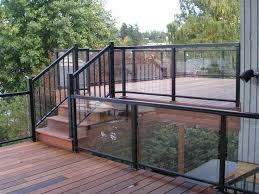 image result for exterior glass railing