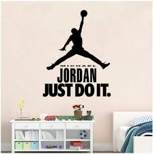 Amazon Com Basketball Characters Jordan Just Do It Vinyl Wall Decal Diy Art Mural Removable Wall Stickers Home Decoration 50 780 5 Home Kitchen