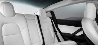 model 3 dual motor and white interior