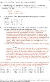 solving quadratic equations in the