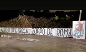 Roma's Zaniolo subject to shock banner of Lazio's ultras in ...
