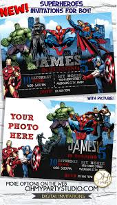 Avengers Endgame Party Superheroes Birthday Invitation Avengers