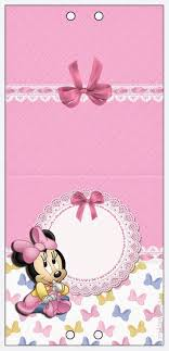 Lovely Minnie Baby Free Printable Candy Bar Labels Con Imagenes