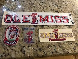 Vintage 1970s Ole Miss Rebels Colonel Rebel Window Decal Stickers Patch Lot 4 34 88 Picclick