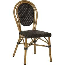 french bistro weave outdoor cafe chairs