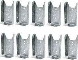 Amazon Com Lukloy Fence Bracket Repair Kit 10 Pack Galvanized 2x4 Brackets For Wood Rail Includes 70pcs 304 Stainless Steel Screws Home Improvement