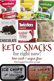 sugar free and keto snacks for right
