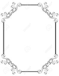 Blanco Y Negro Ornamental Frontera Marco Especialmente Para La