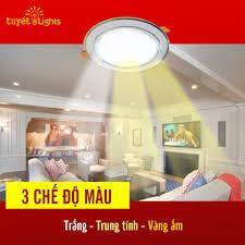 Đèn LED âm trần 3 Chế Độ SASIMI A5 7W/9W ĐẢM BẢO GIÁ GỐC
