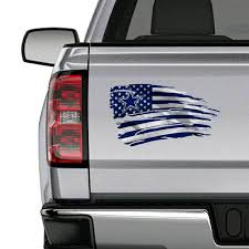 Dallas Cowboys Nfl Striped Tattered Flag Decal
