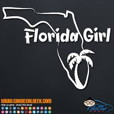 Florida Girl Vinyl Car Decal Sticker Graphic