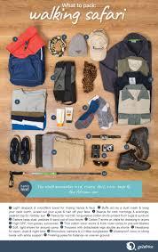 pack for a walking safari