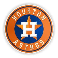 Houston Astros Orange Die Cut Vinyl Decal Sticker 4 S