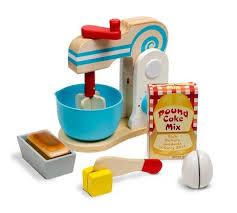 melissa doug make a cake wooden mixer