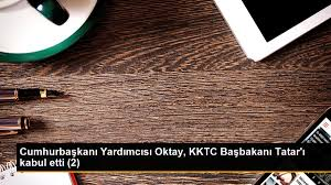 Son dakika haberi: Cumhurbaşkanı Yardımcısı Oktay, KKTC Başbakanı Tatar'ı  kabul etti 2 - Son Dakika