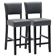 woltu bar stools set of 2 pcs soft faux