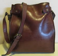 gorgeous brown leather shoulder bag