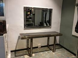 console table mirror set by romeo