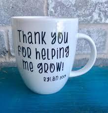 Teacher Thank You Helping Me Grow Glitter Vinyl Decal Sticker For Mug Glass Gift